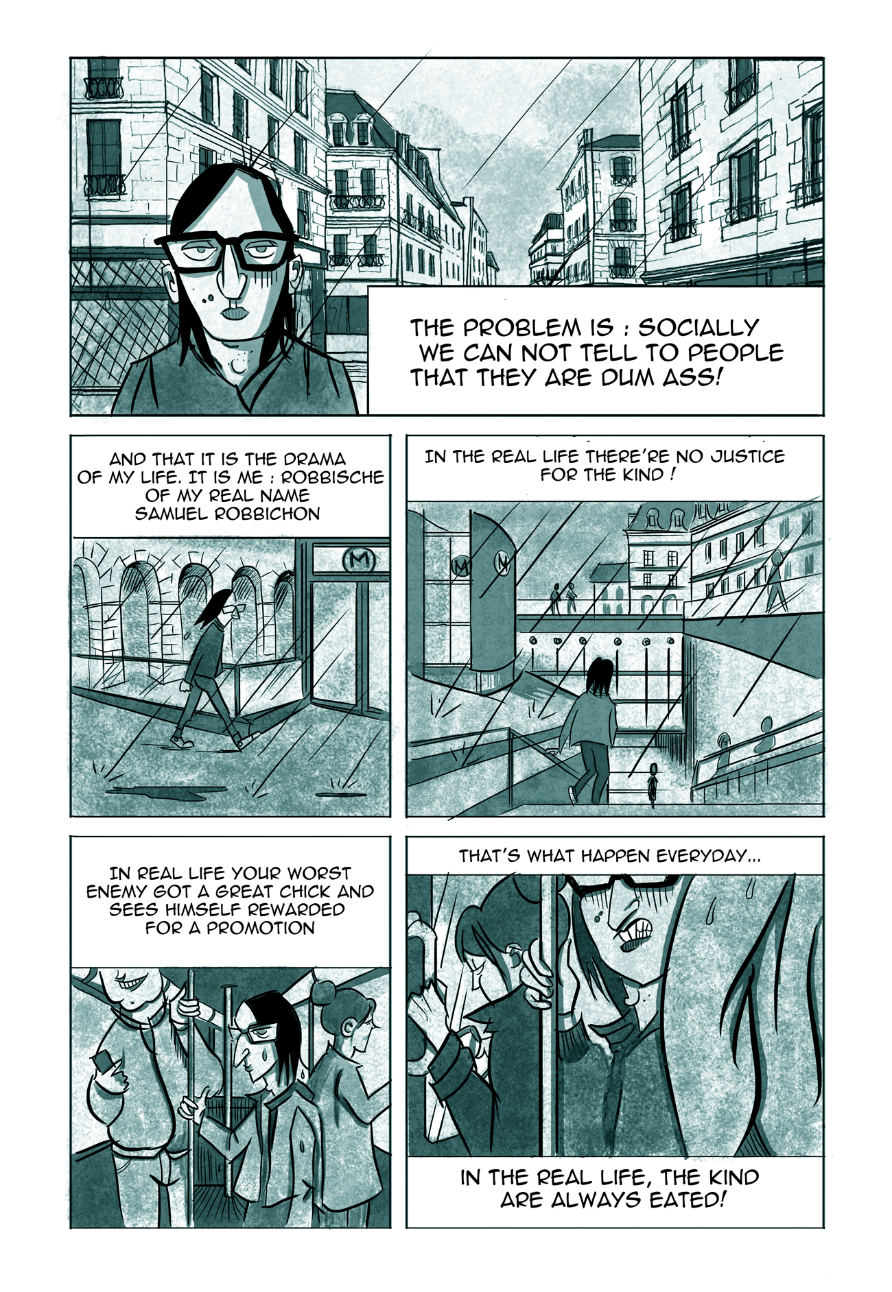 indie comics, fanart DC comics parody